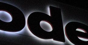 Reliefbuchstaben Profil 3 mit Rahmenkonstruktion