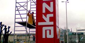 4-seitiger Profil 1 Standanlage mit innenliegender Konstruktion