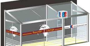 Raucher-Anbau-Kabine HK 5600 Softline